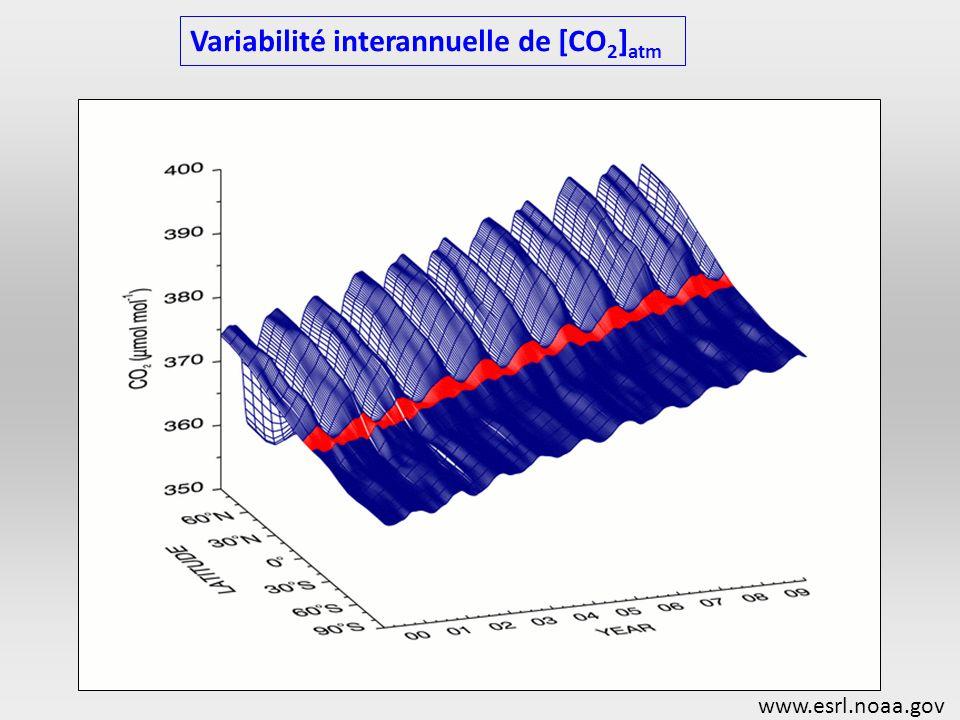 Variabilité interannuelle de [CO2]atm